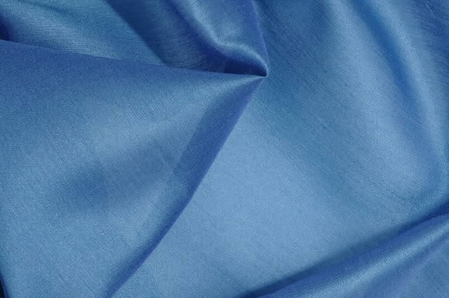 Teal Cotton Silk Fabric