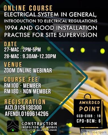 ELECTRICAL SYSTEM IN GENERAL, INTRODUCTION TO ELECTRICAL REGULATION ACT 1994 AND GOOD INSTALLATION PRACTICE FOR SITE SUPERVISION (ESS/2021).
