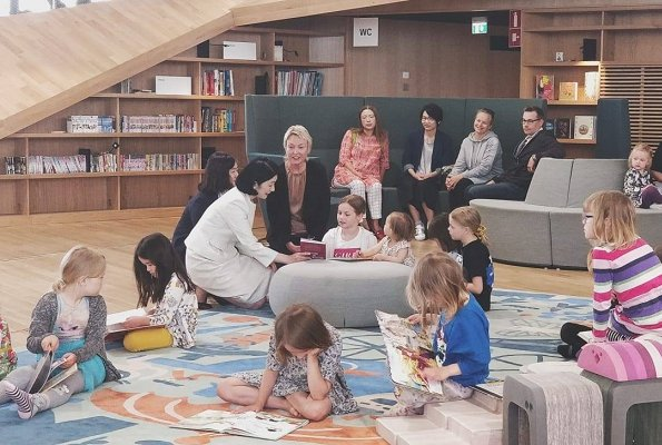 Crown Princess Kiko visited the new Oodi Central Library in Helsinki