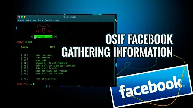 Retrieve Information From Facebook Account With OSIF