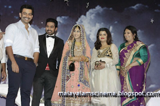 Prithviraj and Supriya at Asif Ali's wedding reception