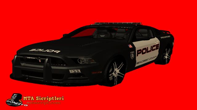 MTA:SA Ford Mustang Polis Aracı