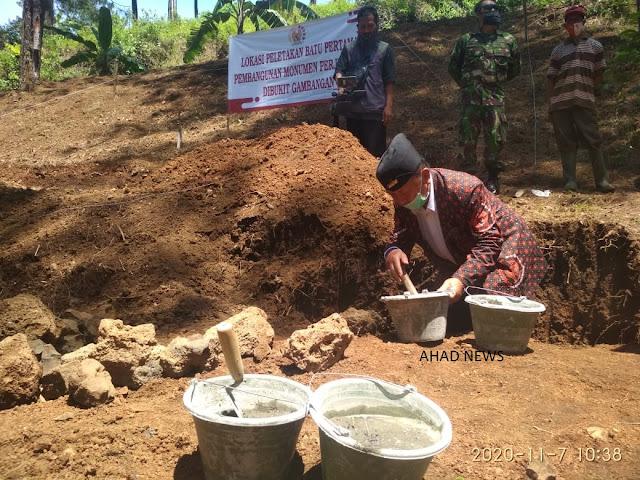 DANLANAL dan FORKOMPINDA Pemalang Hadiri Peletakan Batu Pertama Monumen Dibukit Gambangan