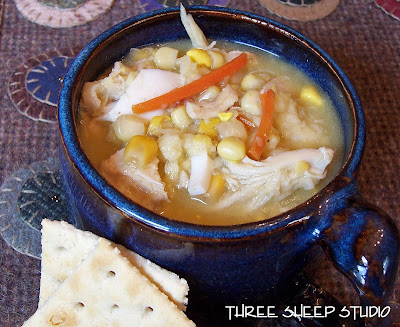 Lancaster County Chicken Corn Soup with Rivals