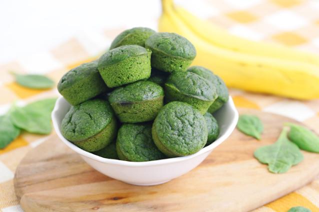 Sweet Spinach Muffins #healthy #breakfast