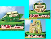 Logo Parmareggio: buoni sconto Formaggini, Burro e Snack da stampare