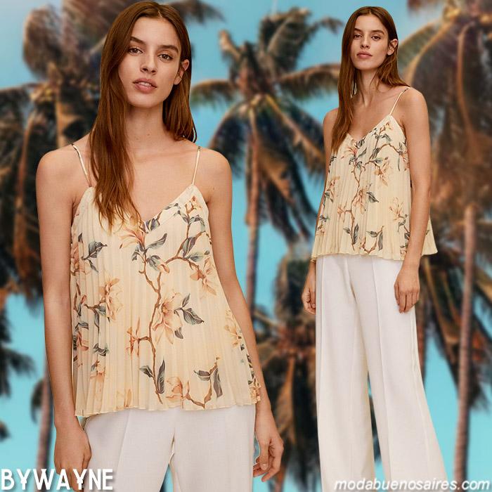 Blusas y tops primavera verano 2021