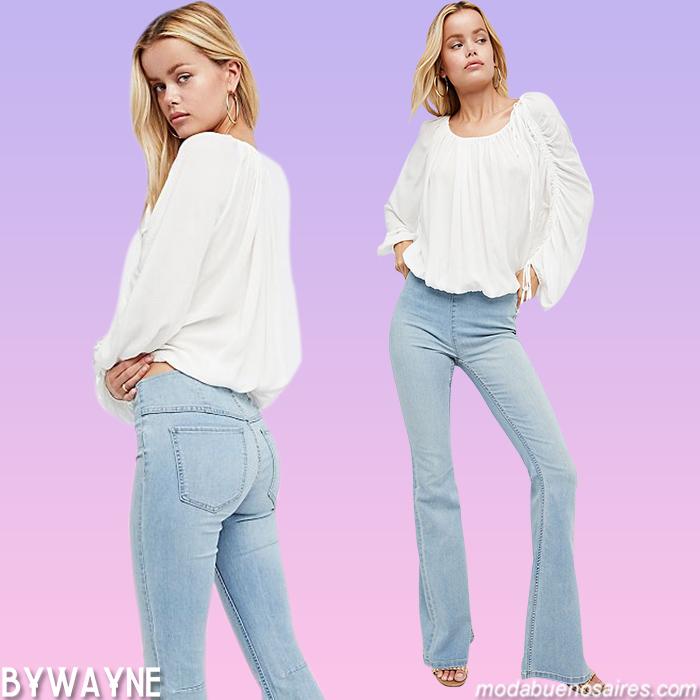Pantalones primavera verano 2021 jeans oxford