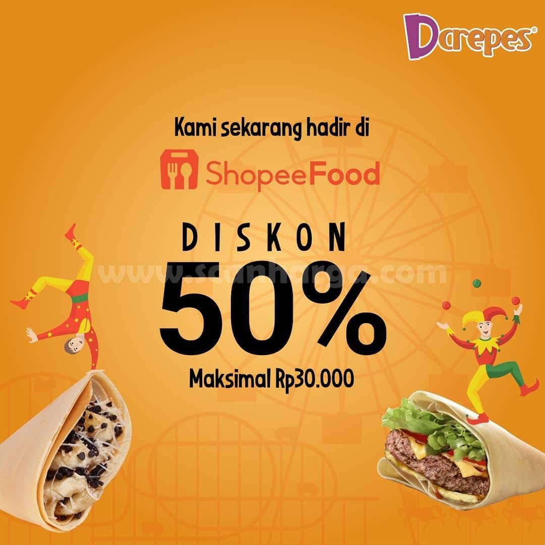 DCREPES Promo DISKON hingga 50% Pemesanan via SHOPEE FOOD