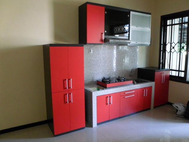 cat dapur warna merah