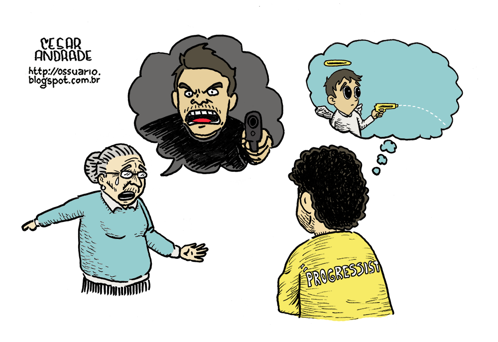 Charge sobre maioridade penal - Cesar Andrade