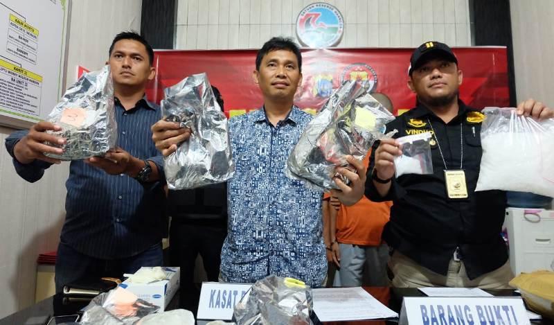 Polres Tanjungpinang Ungkap Tindak Pidana Narkotika Jenis Sabu 8 Kg