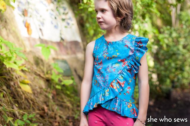 Butterfly blouse in blue