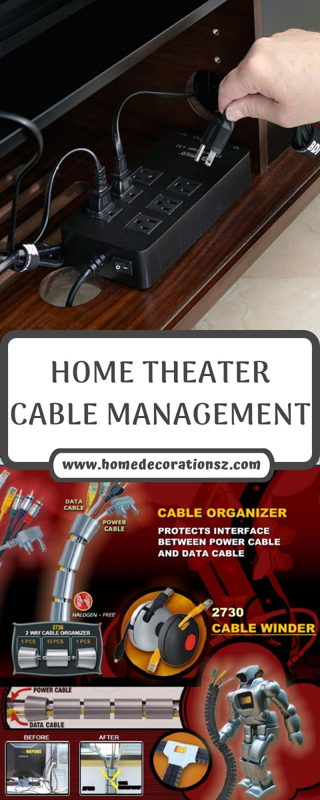 HOME THEATER CABLE MANAGEMENT