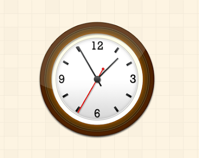Wall Clock Icon (PSD)