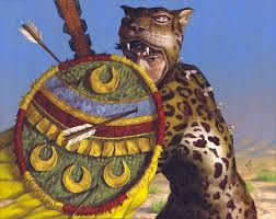 Guerrero jaguar con Chimali