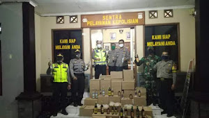 551 Botol Minuman disita dalam Ops Cipko Gabungan TNI-POLRI Cicalengka