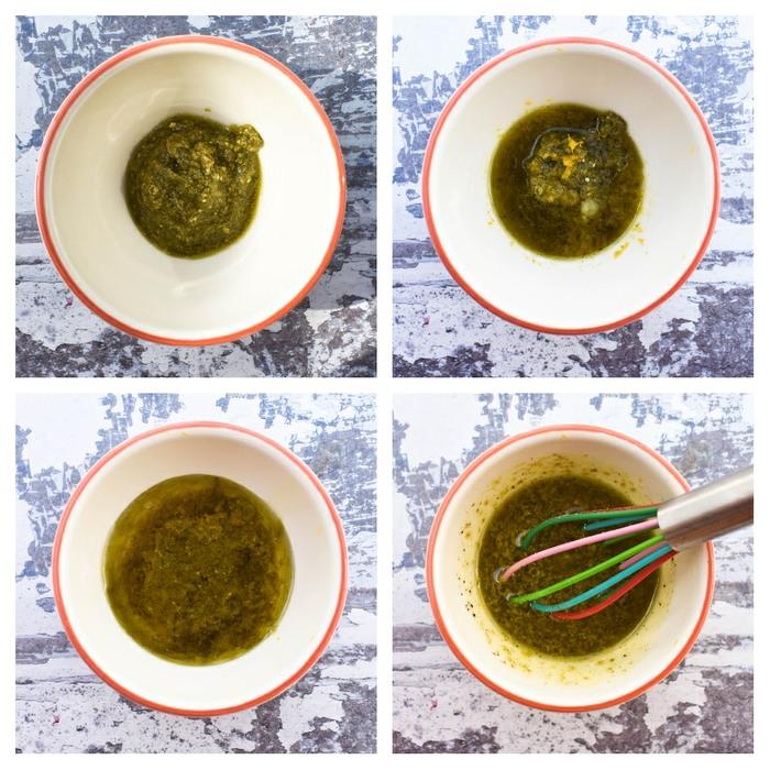 Mediterranean Roasted Vegetable Couscous Salad -step 1- dressing