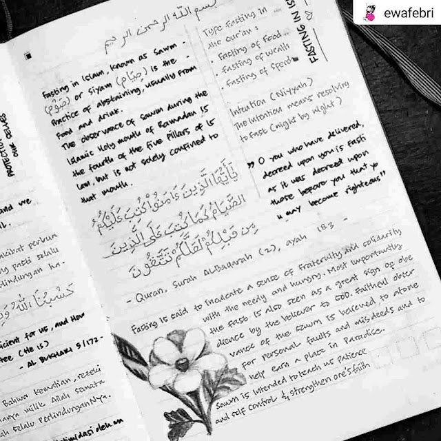 Ewafebri's Quranic Journal layout