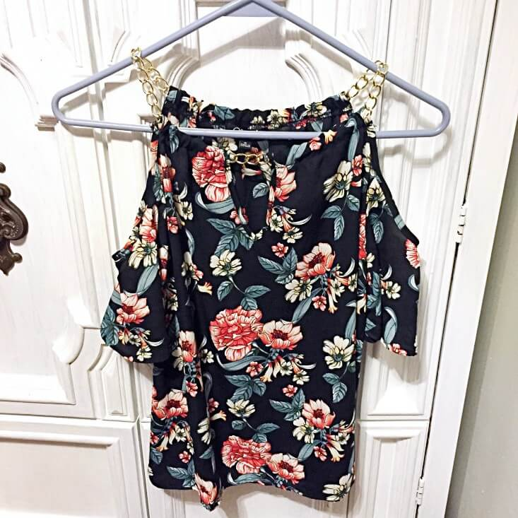 Charmed by Eve floral cold shoulder blouse