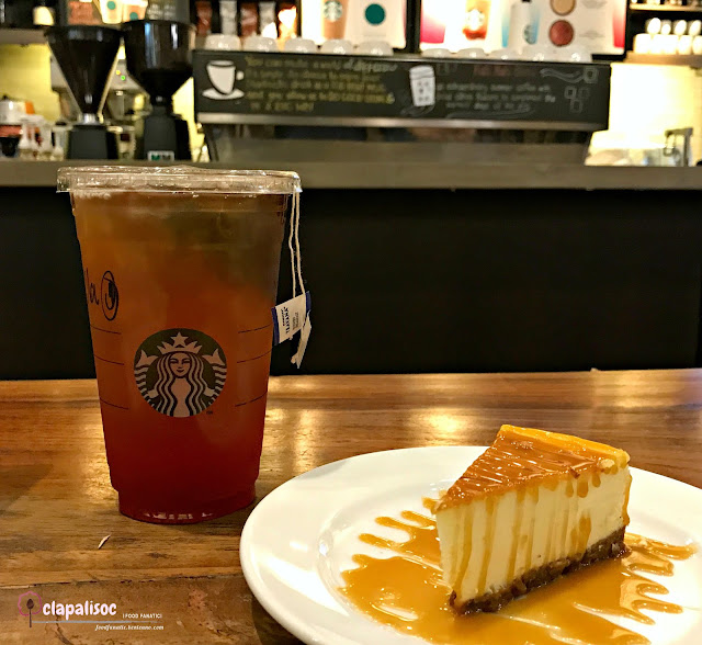 Iced Tea and Cheesecake from Starbucks BGC Stopover
