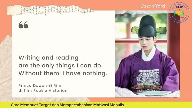 Quote Menulis dan Membaca
