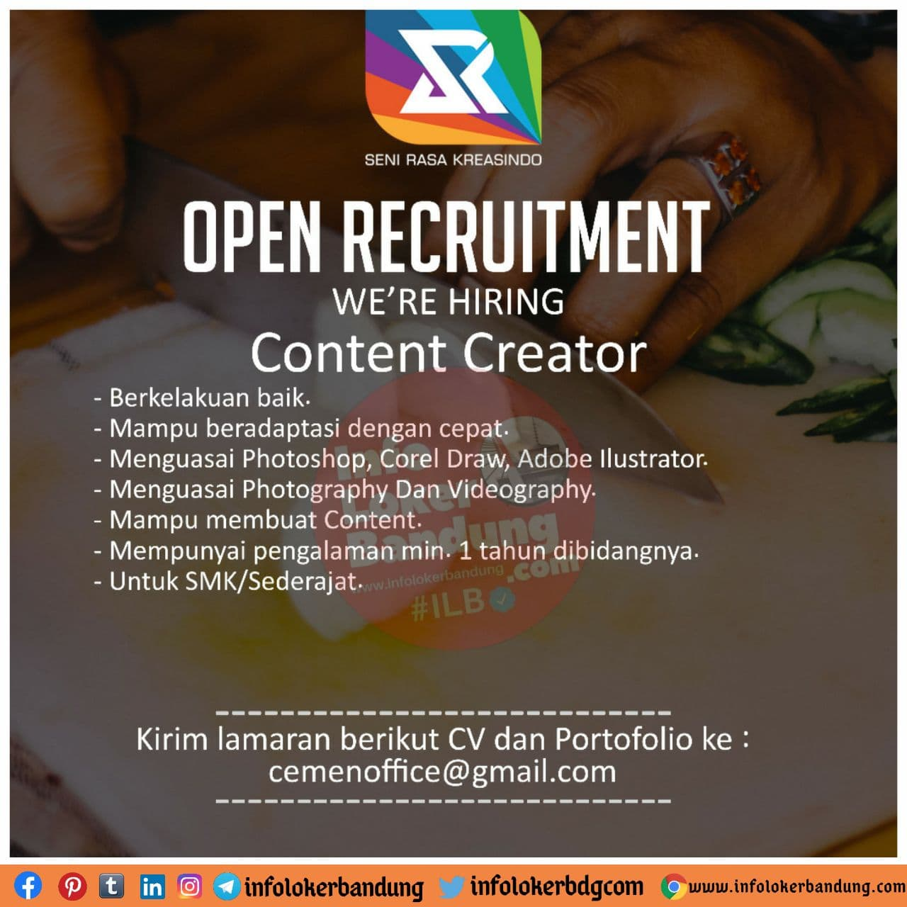 Lowongan Kerja Content Creator Ramen Cemen Bandung November 2020