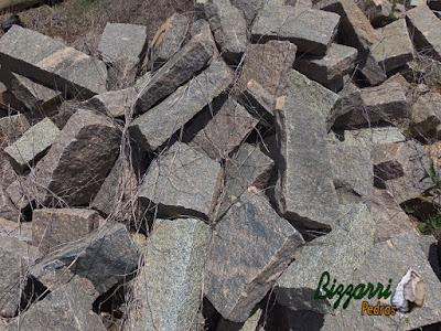 Pedra folheta para caminho de pedra.
