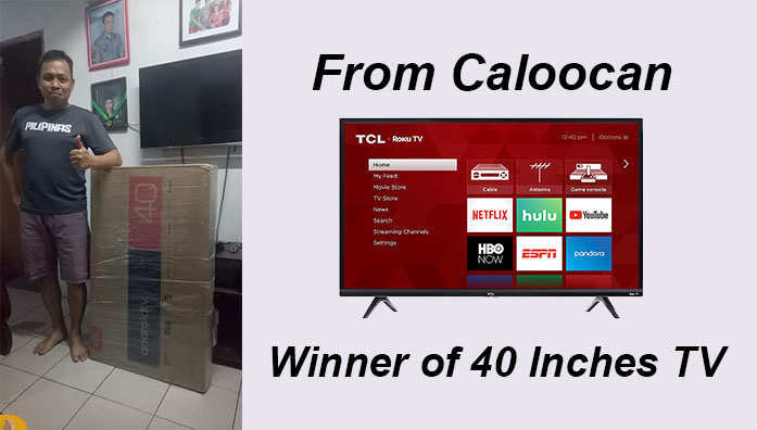 Winner of TCL 40 Inches Smart TV 2019