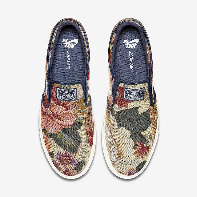 Nike Janoski Zoom Air Floral slip