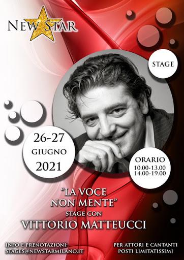 """""""LA VOCE NON MENTE"""" stage con Vittorio Matteucci"""