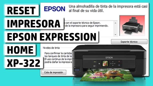 Reset impresora EPSON Expression Home XP-322
