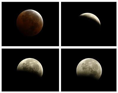 ay tutulması, ay tutulması evreleri