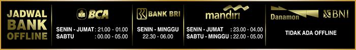 jadwal bank online axiawin
