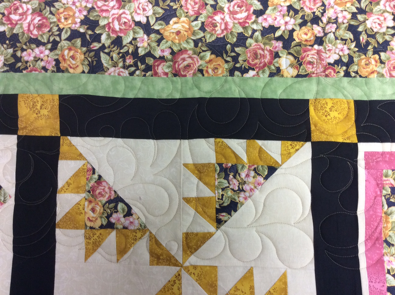 Bargello quilt, fire e2e and deb's feathers e2e patterns – koolkat