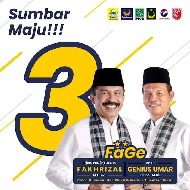 Nomor Urut 3 Fakta Konsistensi FaGe dan Penuh Makna di Ranah Minang | dutametro