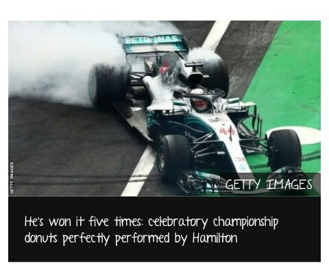 Lewis Hamilton equals Juan Manuel Fangio with fifth F1 title