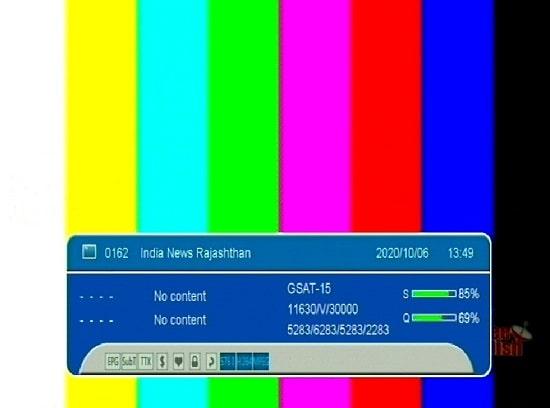 इंडिया न्यूज़ राजस्थान वापस जुड़ा डीडी फ्रीडिश MPEG-4 Slot से