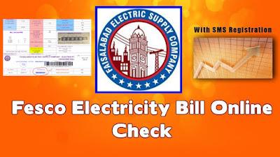 Fesco online bill check -How to Check online electricity bill fesco