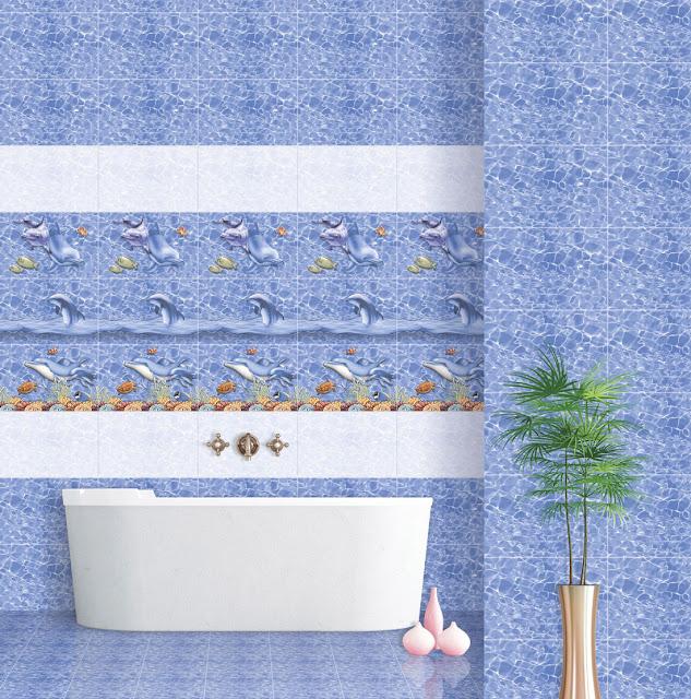 Cobalt Blue Tile Bathroom