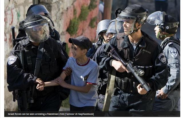 Kembali Israel menahan 484 warga Palestina dan Menembak Mati 11 Anak  kecil