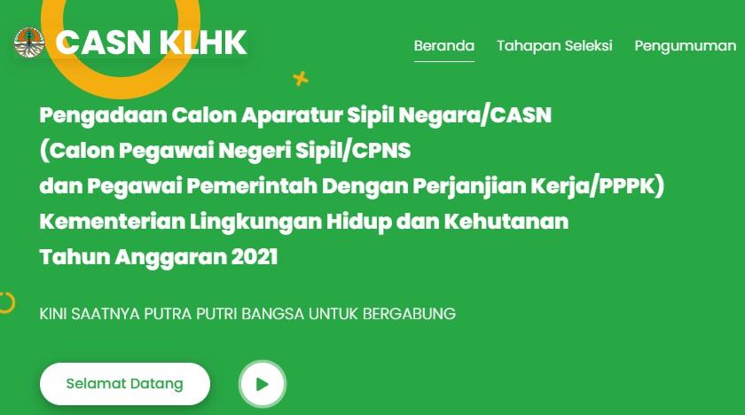 Kebutuhan CPNS dan PPPK Kementerian Lingkungan Hidup dan Kehutanan 2021
