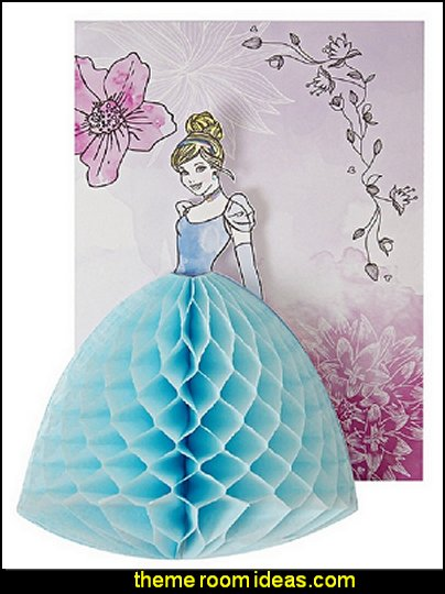 Disney Princess Cinderella Honeycomb Invitations and Envelopes