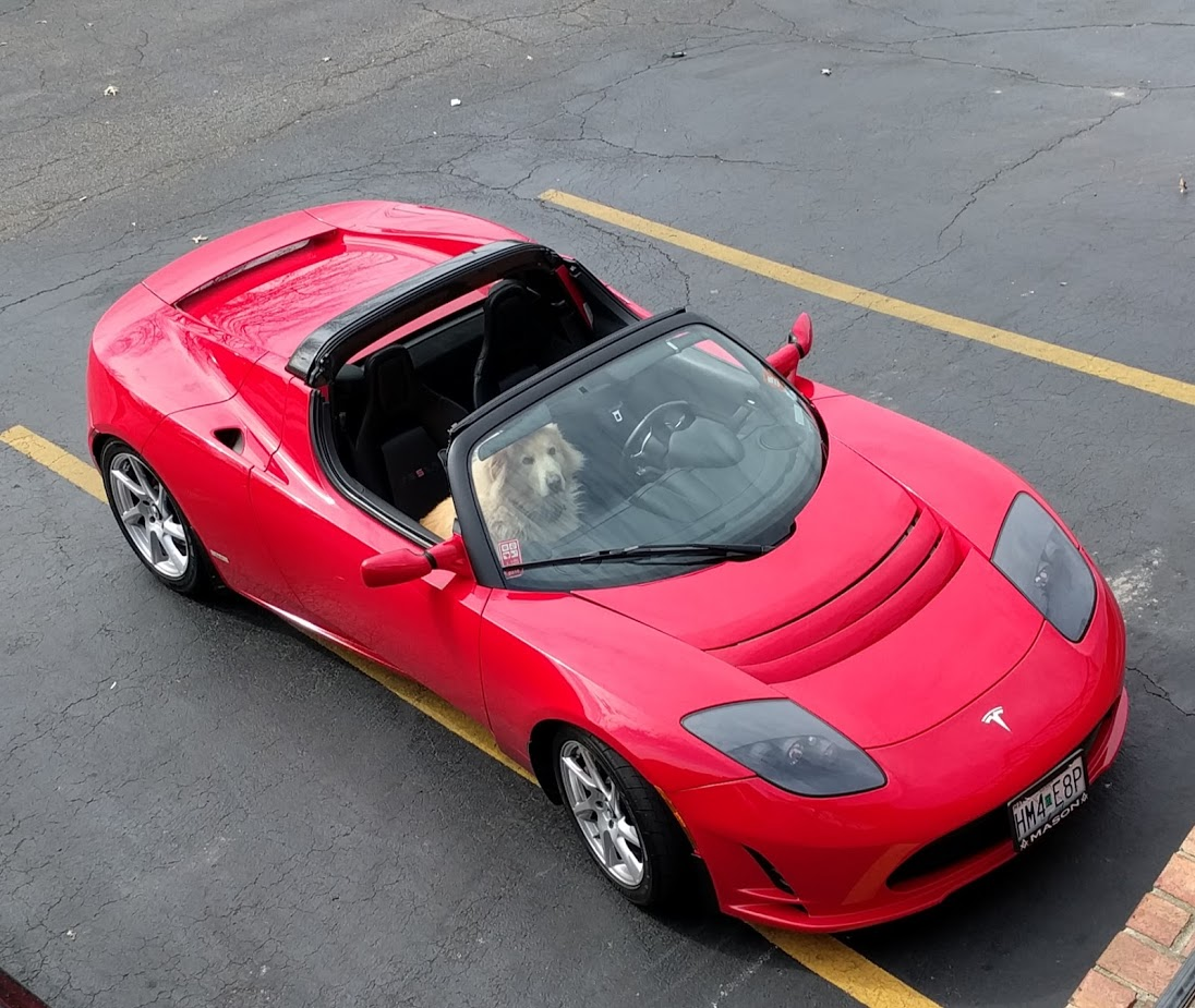 I Drove A Brand New Tesla Model S 100d 3000 Miles In Week Heres How To Build 4 Battery Switch The Green Optimistic Top Down View Of My 2010 Roadster Sport R80 With Sports Car Dog Passenger Seat