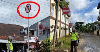 14 Ruas Jalan di Torut Mengalami Perubahan Arus dan Dipasangi Petunjuk Serta Rambu Larangan