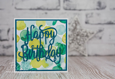 Fast and Fabulous No Stamping Birthday Card - Get the supplies you need to make this card here