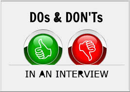 Job Interview:  DO's and DON'Ts for Freshers
