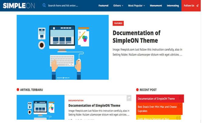 Chia sẻ giao diện blogger Simpleon blogger template