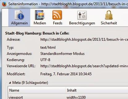 Firefox Seiteninformationen
