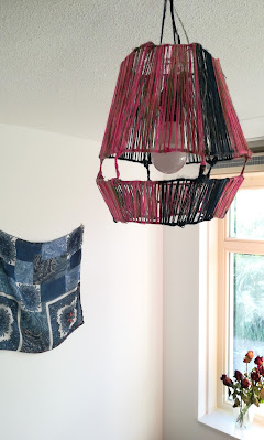 DIY LAMP made of wool and wire